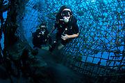 Israeli Navy divers, in the Navy harbour, Eilat, Israel