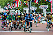 The leaders lap the stragglers for the second time - The Brompton World Championship Final has a Le Mans start and some fine outfits - Prudential RideLondon a festival of cycling, with more than 95,000 cyclists, including some of the world's top professionals, participating in five separate events over the weekend of 1-2 August.