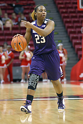 07 December 2012:  Inesha Hale during an NCAA women's basketball game between the Northwestern Wildcats and the Illinois Sate Redbirds at Redbird Arena in Normal IL
