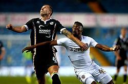 Caleb Ekuban of Leeds United battles with Antony Kay of Port Vale - Mandatory by-line: Robbie Stephenson/JMP - 09/08/2017 - FOOTBALL - Elland Road - Leeds, England - Leeds United v Port Vale - Carabao Cup