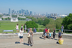 © Licensed to London News Pictures 01/06/2021. Greenwich, UK. People out and about in Greenwich Park, London as the hot heat wave weather continues. Photo credit:Grant Falvey/LNP