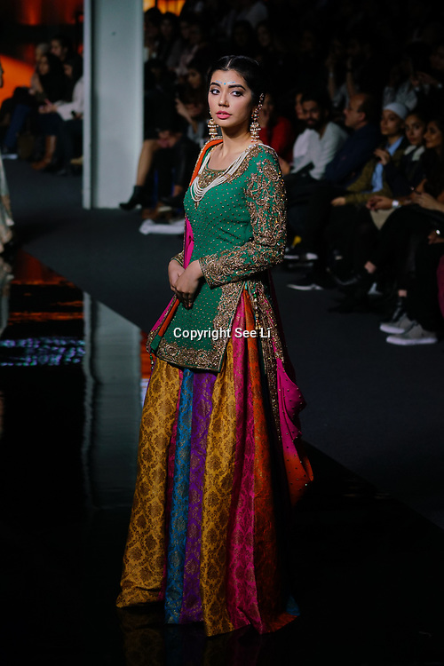 Maharani of Bradford showcases latest collection at the National Asian Wedding Show on 11th Novmber 2017, Olympia London.