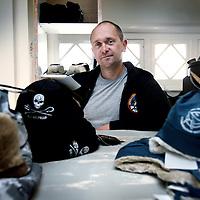 Nederland, Amsterdam , 16 oktober 2014.<br /> Alex Cornelissen, kapitein van een van de schepen van de Sea Shepherd in de Sea Shepherd winkel in de Alexander boerstraat.<br /> Foto:Jean-Pierre Jans