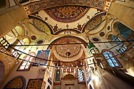 Interior of the Serafeddin Camii (Mosque) Konya, Turkey .<br /> <br /> If you prefer to buy from our ALAMY PHOTO LIBRARY  Collection visit : https://www.alamy.com/portfolio/paul-williams-funkystock/konya.html<br /> <br /> Visit our TURKEY PHOTO COLLECTIONS for more photos to download or buy as wall art prints https://funkystock.photoshelter.com/gallery-collection/3f-Pictures-of-Turkey-Turkey-Photos-Images-Fotos/C0000U.hJWkZxAbg