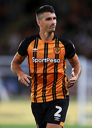 """Hull City's Eric Lichaj during the Sky Bet Championship match at the KCOM Stadium, Hull. PRESS ASSOCIATION Photo. Picture date: Monday August 6, 2018. See PA story SOCCER Hull. Photo credit should read: Mike Egerton/PA Wire. RESTRICTIONS: EDITORIAL USE ONLY No use with unauthorised audio, video, data, fixture lists, club/league logos or """"live"""" services. Online in-match use limited to 75 images, no video emulation. No use in betting, games or single club/league/player publications."""