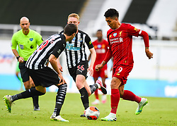 LIVERPOOL, ENGLAND - Sunday, July 26, 2020: Liverpool's Roberto Firmino during the final match of the FA Premier League season between Newcastle United FC and Liverpool FC at St. James' Park. The game was played behind closed doors due to the UK government's social distancing laws during the Coronavirus COVID-19 Pandemic. Liverpool won 3-1 and finished the season as Champions on 99 points. (Pic by Propaganda)