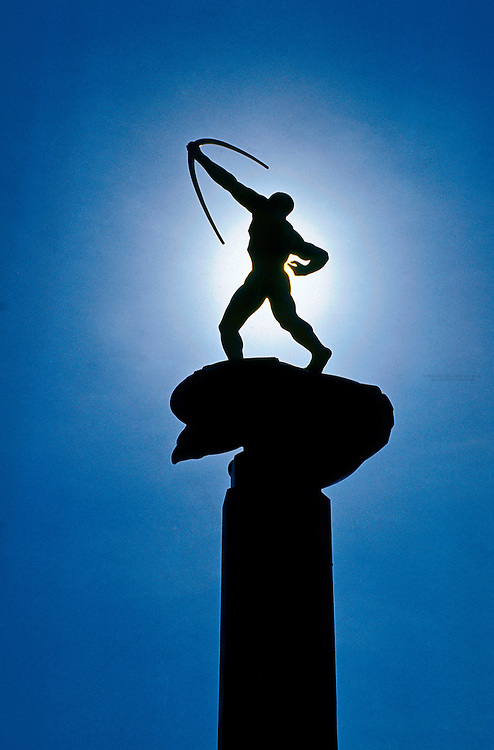 "Carl Milles statue ""The Bowman"", Stockholm, Sweden"