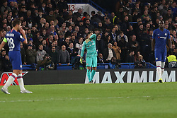 November 5, 2019: AMSTERDAM, NETHERLANDS - OCTOBER 22, 2019: Kepa (Chelsea FC) pictured during the 2019/20 UEFA Champions League Group H game between Chelsea FC (England) and AFC Ajax (Netherlands) at Stamford Bridge. (Credit Image: © Federico Guerra Maranesi/ZUMA Wire)
