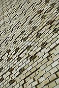 Brick work detail inside The Main Hall, University of Aarhus set in the University Park designed by C.F. Moller Architect & Søren Jensen Engineer