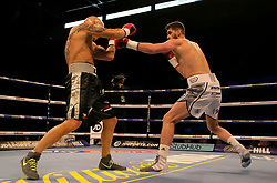 Rocky Fielding (right) and Karel Horejsek in action during their Super-Middlewight contest at the FlyDSA Arena, Sheffield.