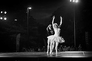 Boston Ballet's Lorna Feijoo and Nelson Madrigal perform with the Boston Landmarks Orchestra at the Hatch shell. 31st of August 2011