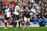 Jan Vertonghen of Tottenham Hotspur holds onto Ashley Barnes of Burnley .Premier League match, Burnley v Tottenham Hotspur at Turf Moor in Burnley , Lancs on Saturday 1st April 2017.<br /> pic by Chris Stading, Andrew Orchard sports photography.