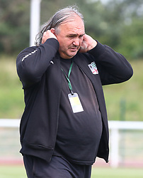 June 9, 2018 - London, England, United Kingdom - Arturo Merlo Head Coach of Padania.during Conifa Paddy Power World Football Cup 2018 Bronze Medal Match Third Place Play-Off between Padania v Szekely Land at Queen Elizabeth II Stadium (Enfield Town FC), London, on 09 June 2018  (Credit Image: © Kieran Galvin/NurPhoto via ZUMA Press)