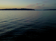 ripples on the Hood Canal at sunset Puget Sound, WA
