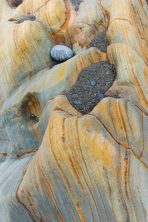 Surf-worn rocks, July, Pacific Coast, Beach 4, Olympic National Park, Washington, USA