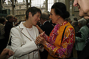 Dame Judith Mayhew-Jonas and Dame Meryl Grey. 75 Anniversary celebration fort the Royal Ballet. Royal Opera House. Covent garfden. London. 23 April 2006. ONE TIME USE ONLY - DO NOT ARCHIVE  © Copyright Photograph by Dafydd Jones 66 Stockwell Park Rd. London SW9 0DA Tel 020 7733 0108 www.dafjones.com