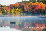 64776-02014 Council Lake in fall color Alger Co.  MI