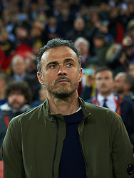 March 23, 2019 - Valencia, Valencia, Spain - Head coach Luis Enrique Martinez of Spain national team and during the European Qualifying round Group F match between Spain and Norway at Estadio de Mestalla, on March 23 2019 in Valencia, Spain  (Credit Image: © Maria Jose Segovia/NurPhoto via ZUMA Press)