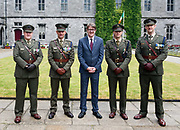 08/07/2018  repro  free Capt Michael McGrath, Ltn Padraic Ryan , Cllr Niall McNelis Mayor of Galway City  with Sgt Major Seamus Gannon and Commandant Colin Campbell at  The National Day of Commemoration Ceremony at NUI Galway in honour of all those Irishmen and Irish Women who served in past wars or on Service with the UN.Photo:Andrew Downes, XPOSURE
