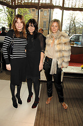 Left to right, EMILY OPPENHEIMER-TURNER, CLAUDIA WINKLEMAN and JANE GOTTSCHALK at a party to celebrate the publication of Lisa B's book 'Lifestyle Essentials' held at the Cook Book Cafe, Intercontinental Hotel, Park Lane London on 10th April 2008.<br />