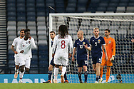Portugal forward Eder (9) (Lokomotiv Moscow)  wheels away to celebrate his goal 0-2 during the Friendly international match between Scotland and Portugal at Hampden Park, Glasgow, United Kingdom on 14 October 2018.