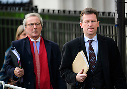 © Licensed to London News Pictures. 07/12/2016. London, UK. LORD KEEN QC (left), Attorney General for Scotland JEREMY WRIGHT QC MP (right), Attorney General for England and Wales, arrive at the Supreme Court in Westminster, London for day three of a hearing to appeal against a November 3 High Court ruling that Article 50 cannot be triggered without a vote in Parliament. Photo credit: Ben Cawthra/LNP