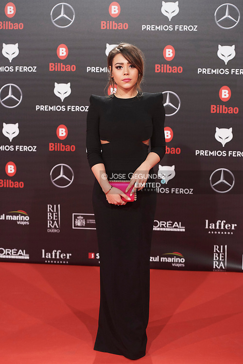 Danna Paola attends the 2019 Feroz Awards at Bilbao Arena on January 19, 2019 in Madrid, Spain