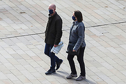 © Licensed to London News Pictures. 01/10/2020. Liverpool, UK. People out and about in Liverpool today, where stricter lockdown rules have been announced. Photo credit: Kerry Elsworth/LNP