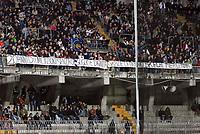 Ascoli 08/04/06<br /> Campionato Italiano Serie A 2005/06<br /> Ascoli-Inter 1-2<br /> Nella foto Uno striscione di protesta dei tifosi nero-azzurri<br /> Photo Luca Pagliaricci Graffiti