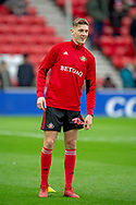 Jimmy Dunne (#30 ) of Sunderland AFC warms up before the EFL Sky Bet League 1 match between Sunderland AFC and Luton Town at the Stadium Of Light, Sunderland, England on 12 January 2019.