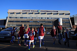 Aston Villa fans outside the ground before the FA Cup Sixth Round match at Villa Park, Birmingham.