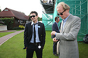 James Franco and Bill Nighy, Cartier International Polo. Guards Polo Club. Windsor Great Park. 29 July 2007.  -DO NOT ARCHIVE-© Copyright Photograph by Dafydd Jones. 248 Clapham Rd. London SW9 0PZ. Tel 0207 820 0771. www.dafjones.com.