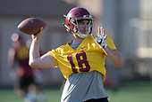 Aug 13, 2018-NCAA Football-Southern California Practice