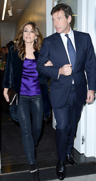 © London News Pictures. 30/01/2014. London. UK. Liz Hurley at the Launch of Amanda Wakeley Flagship Store in London.  Photo credit: See Li/LNP