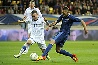 FOOTBALL - INTERNATIONAL FRIENDLY GAMES 2011/2012 - FRANCE v ESTONIA  - 5/06/2012 - PHOTO JEAN MARIE HERVIO / REGAMEDIA / DPPI - JEREMY MENEZ (FRA) / ENAR JAAGER (EST)