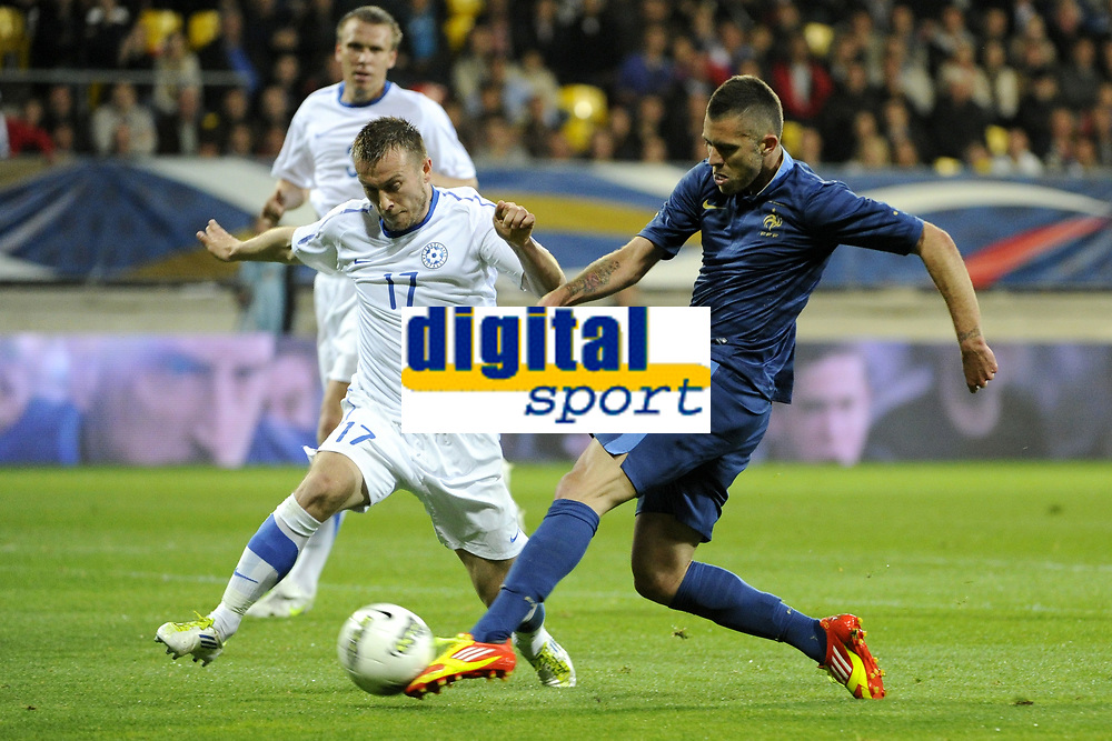 FOOTBALL - INTERNATIONAL FRIENDLY GAMES 2011/2012 - FRANCE v ESTONIA  - 5/06/2012 - PHOTO JEAN MARIE HERVIO / REGAMEDIA / DPPI - JEREMY MENEZ (FRA) / ENAR JAAGER (EST)