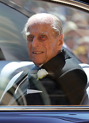 File photo dated 19/05/18 of the Duke of Edinburgh leaves St George's Chapel at Windsor Castle for the wedding of Meghan Markle and Prince Harry. The Duke of Edinburgh has died, Buckingham Palace has announced. Issue date: Friday April 9, 2020.