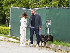 Ben Affleck and Ana de Armas walk the dogs - 13 April 2020
