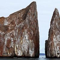 South America, Ecuador, Galapagos Islands. Kicker Rock.