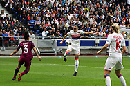 Goal Lucy Bronze to OL during the UEFA Women's Champions League, semi final, 2nd leg football match between Olympique Lyonnais and Manchester City on April 29, 2018 at Groupama stadium in Décines-Charpieu near Lyon, France - Photo Romain Biard / Isports / ProSportsImages / DPPI