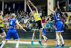 Ivana Dojkic of Athlete Celje during basketball match between ZKK Athlete Celje and ZKK Triglav in Finals of 1. SKL for Women 2014/15, on April 20, 2015 in Gimnazija Celje Center, Celje, Slovenia. Photo by Vid Ponikvar / Sportida