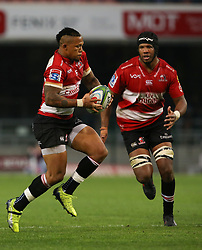Elton Jantjies of the Emirates Lions side steps during the first half of the Vodacom Super Rugby match between the DHL Stormers and the Emirates Lions at DHL Newlands in Cape Town, South Africa, Saturday May 26 2018. <br /> (Roger Sedres/ANA)