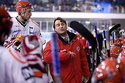 Head coach Mike Posma at 38th Round of EBEL league  ice hockey match between HDD Tilia Olimpija Ljubljana and HK Acroni Jesenice, on January 1, 2010, in Arena Tivoli, Ljubljana, Slovenia. (Photo by Vid Ponikvar / Sportida)