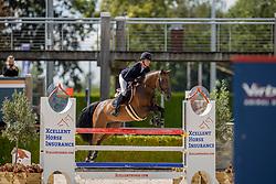 Aarts Elisah, NED, Kyaklahoma<br /> Nationaal Kampioenschap KWPN<br /> 5 jarigen springen final<br /> Stal Tops - Valkenswaard 2020<br /> © Hippo Foto - Dirk Caremans<br /> 19/08/2020
