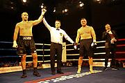 Boxen: Fritz Sdunek Memorial 2019, Zinnowitz, 21.09.2019<br /> Schwergewicht: Denis Bakhtov (RUS) - Evgenios Lazaridis (GER)<br /> © Torsten Helmke