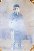 Shichi Go San portrait of a 5 year old boy Japan ca 1950s