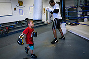 The Western Pennsylvania branch of the Police Athletic League runs a boxing program in the basement of the Braddock Community Center, which used to be a church.<br /> <br /> The program is free to everyone between the ages 8 and 18 and anyone currently attending high school. Its goal is to create relationships between volunteers and local kids, to help steer them away from crime, violence and drugs and be surrounded by positive influences.<br /> <br /> With a population of just over 2,000 (down from a high of 20,879 at the height of the steel industry, Braddock is almost a ghost town even though it is the home of the last steel mill still in operation in the Monongahela River valley. The Edgar Thompson Steel Works, built in 1872, was the first major steel mill built in the United States. Braddock was originally built to house the mill's workers, but none of the mill's nine hundred or so employees live there.