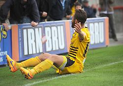 Matt Taylor of Bristol Rovers celebrates the third goal - Mandatory byline: Neil Brookman/JMP - 07966 386802 - 03/10/2015 - FOOTBALL - Globe Arena - Morecambe, England - Morecambe FC v Bristol Rovers - Sky Bet League Two