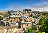 View of Ragusa Ibla - historic hill top sicilian town .<br /> <br /> Visit our SICILY HISTORIC PLACES PHOTO COLLECTIONS for more   photos  to download or buy as prints https://funkystock.photoshelter.com/gallery-collection/2b-Pictures-Images-of-Sicily-Photos-of-Sicilian-Historic-Landmark-Sites/C0000qAkj8TXCzro