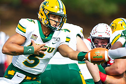 NORMAL, IL - October 05:   Trey Lance during a college football game between the ISU (Illinois State University) Redbirds and the North Dakota State Bison on October 05 2019 at Hancock Stadium in Normal, IL. (Photo by Alan Look)